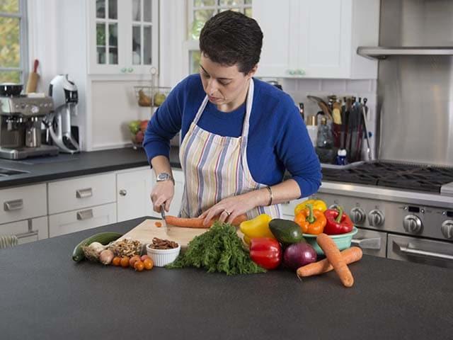 Jenna Lebowich chopping
