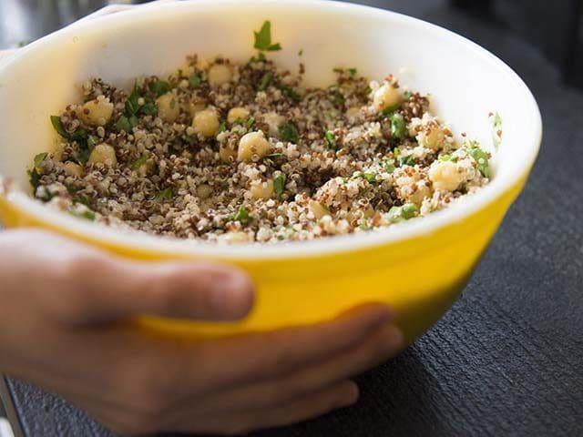Quinoa and chickpeas